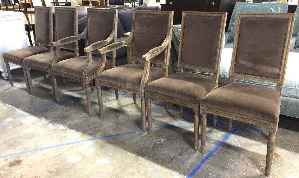 Set Of Six RESTORATION HARDWARE Dining Chairs