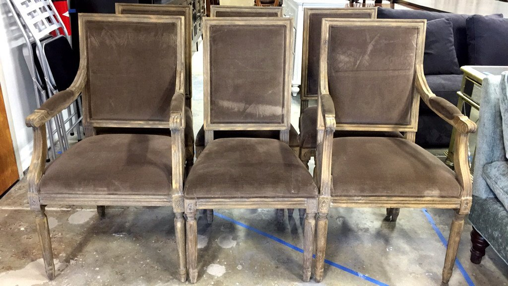 Set Of Six RESTORATION HARDWARE Dining Chairs - 2