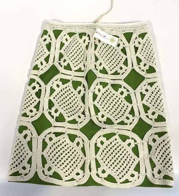 TORY BURCH size xs Crochet Overlay Skirt
