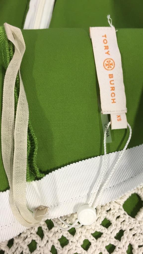 TORY BURCH size xs Crochet Overlay Skirt - 3