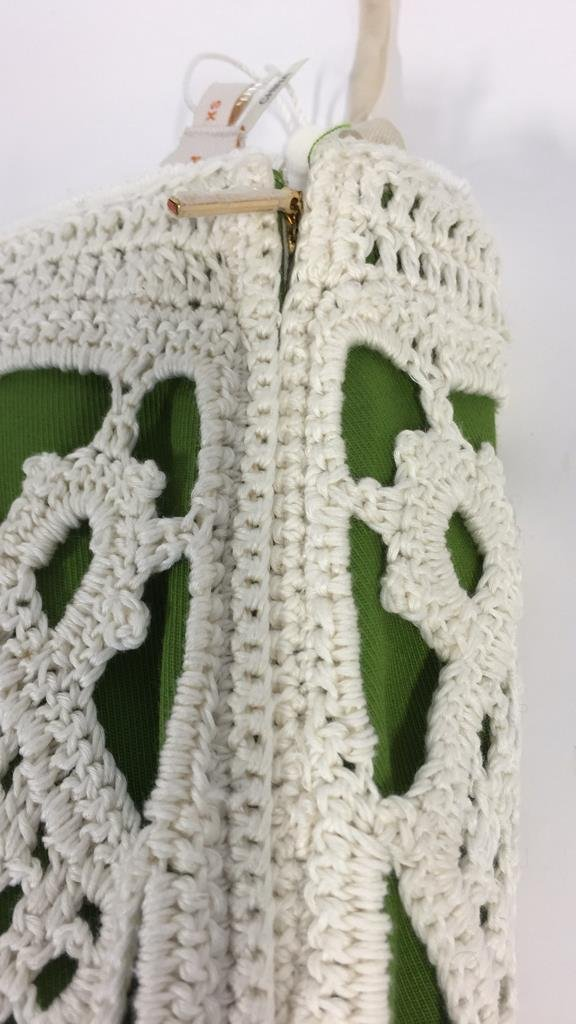 TORY BURCH size xs Crochet Overlay Skirt - 7