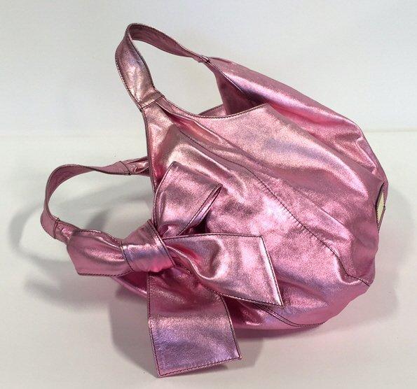 VALENTINO GARAVANI Pink Metallic Handbag