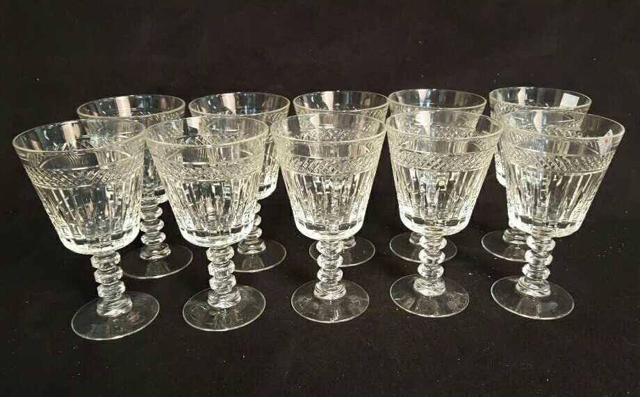 10 Piece Vintage Cut Glasses