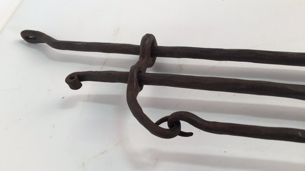 Wrought Iron Rustic Candlestick Sconces - 5