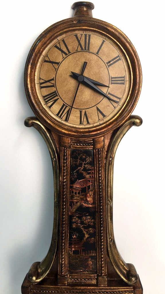Hand Painted Asian Wall Clock - 7