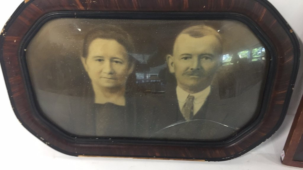 Antique Familial Ancestors Portrait & Litho - 2