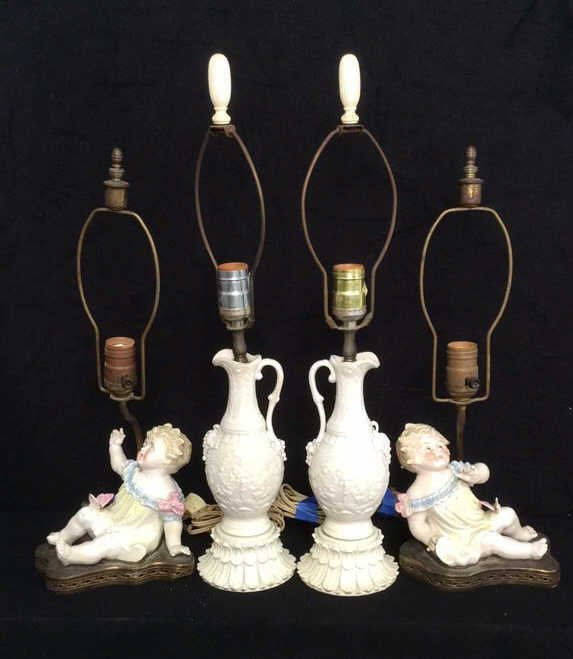 2 Pairs Victorian Style Lamps