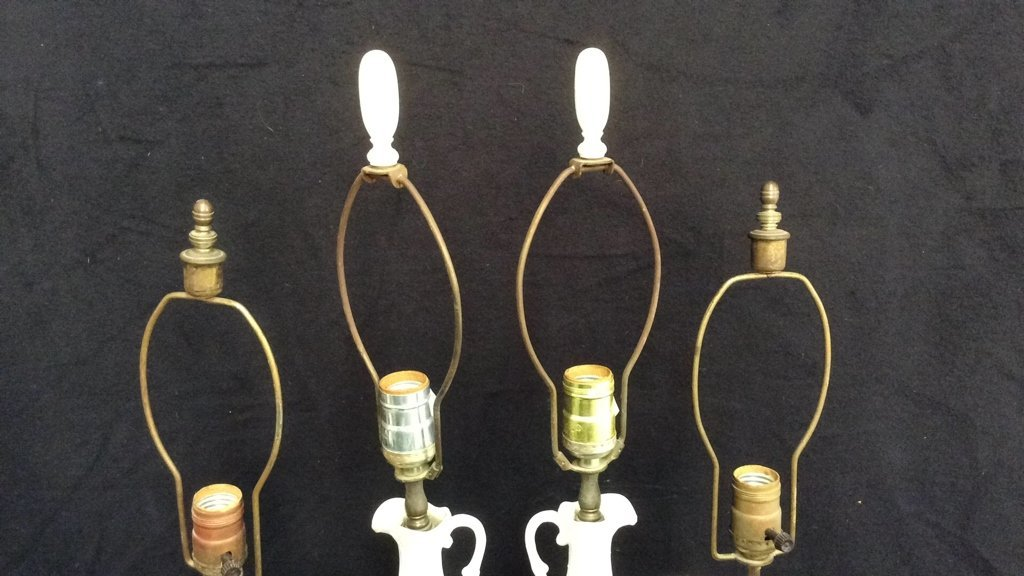 2 Pairs Victorian Style Lamps - 3