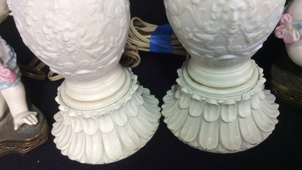 2 Pairs Victorian Style Lamps - 6