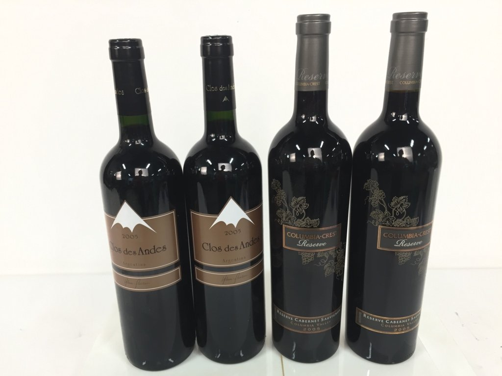 Group Lot 4 Bottles Red Cab and Malbac 2005