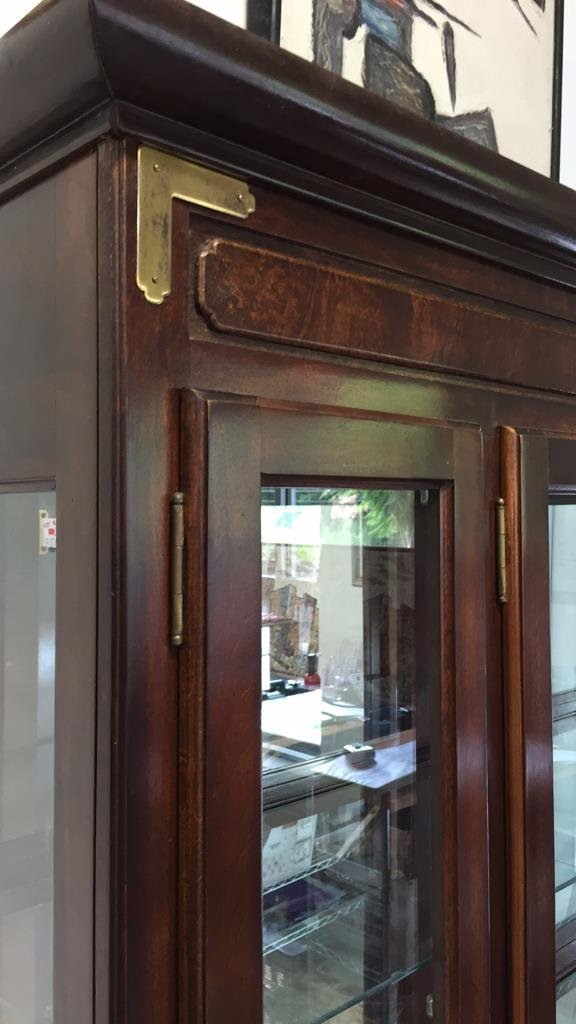 China Cabinet with Brushed Brass Hardware - 4