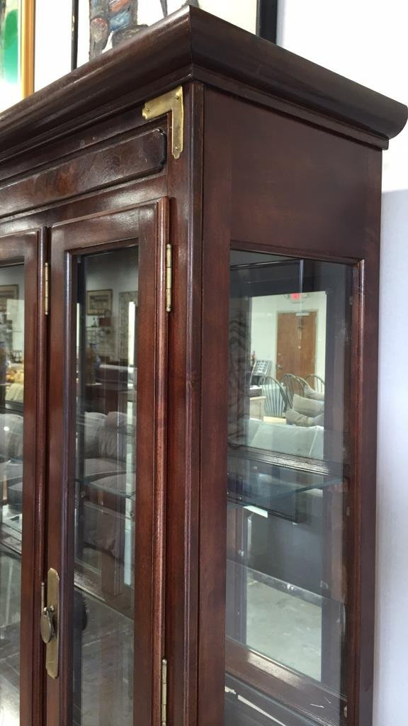 China Cabinet with Brushed Brass Hardware - 8