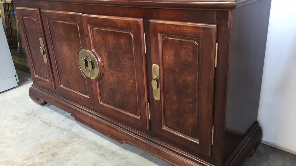 China Cabinet with Brushed Brass Hardware - 9