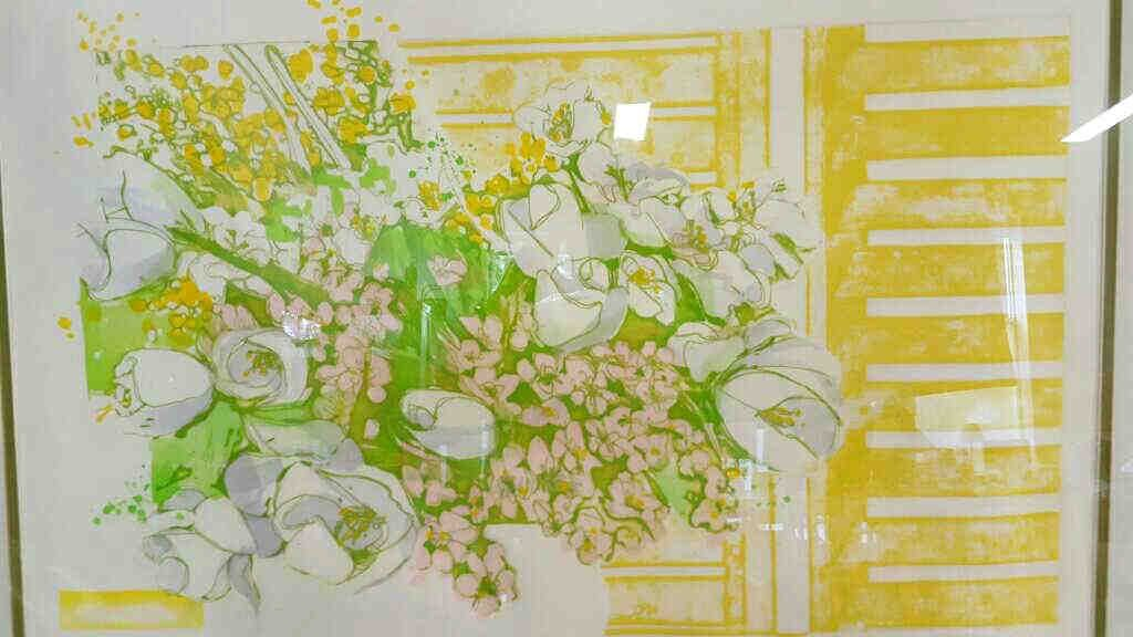 Illegible Signed Hand Colored Floral - 3