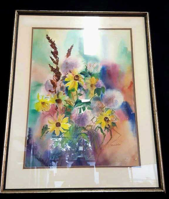 Signed Kathryn Keillor Watercolor