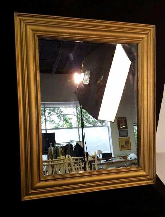 Gold Painted Wood Framed Mirror