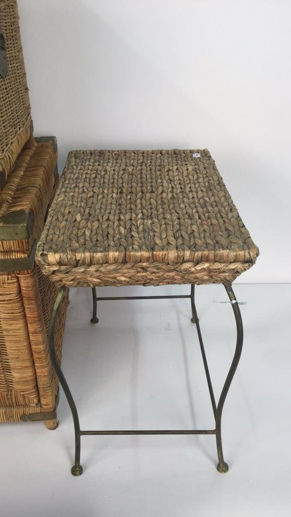 Group Lot 6 Woven Style Side Tables - 5