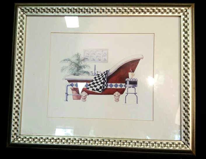 Signed Danielle Old Fashioned Tub Print