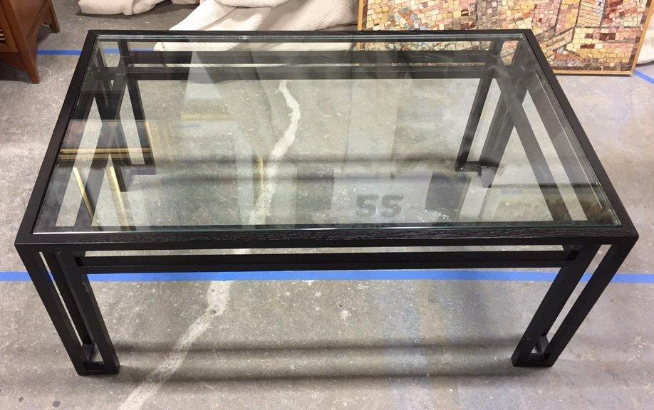 BILLY BALDWIN Glass Top Coffee Table