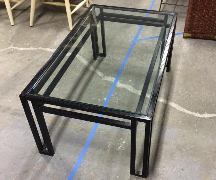 BILLY BALDWIN Glass Top Coffee Table - 4