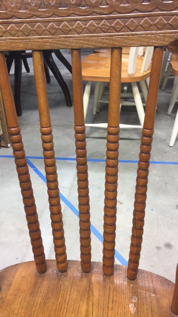 Set 4 Vintage Wood Chairs - 6