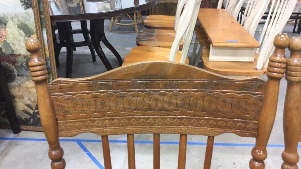 Set 4 Vintage Wood Chairs - 7