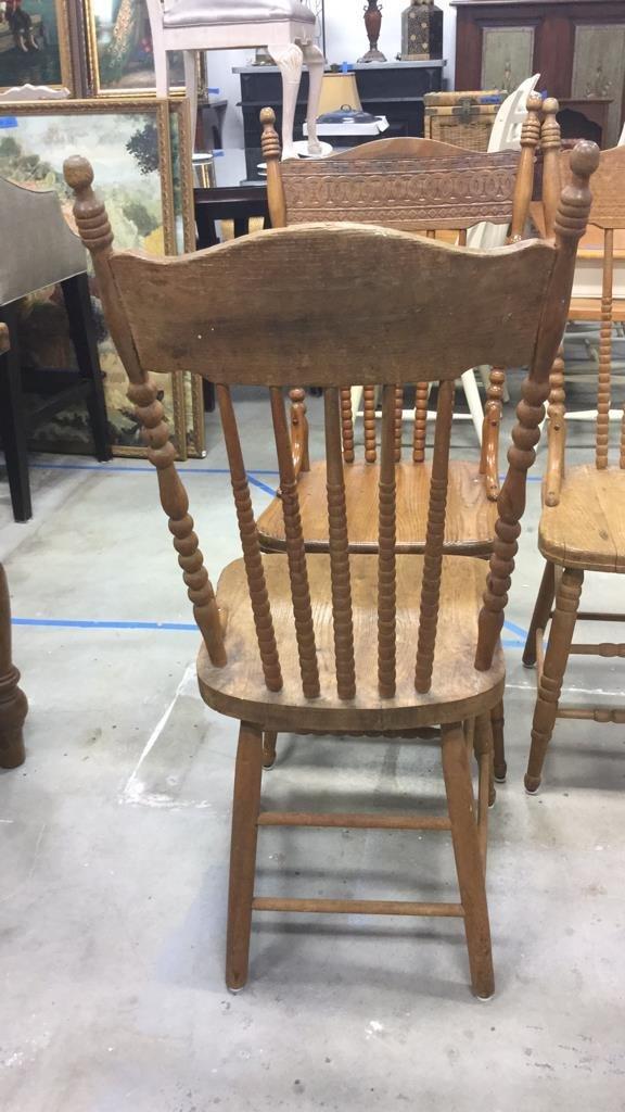 Set 4 Vintage Wood Chairs - 9