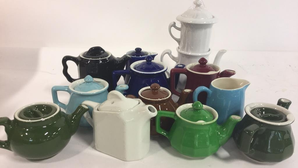 Group HALL trademarked tea pots and more