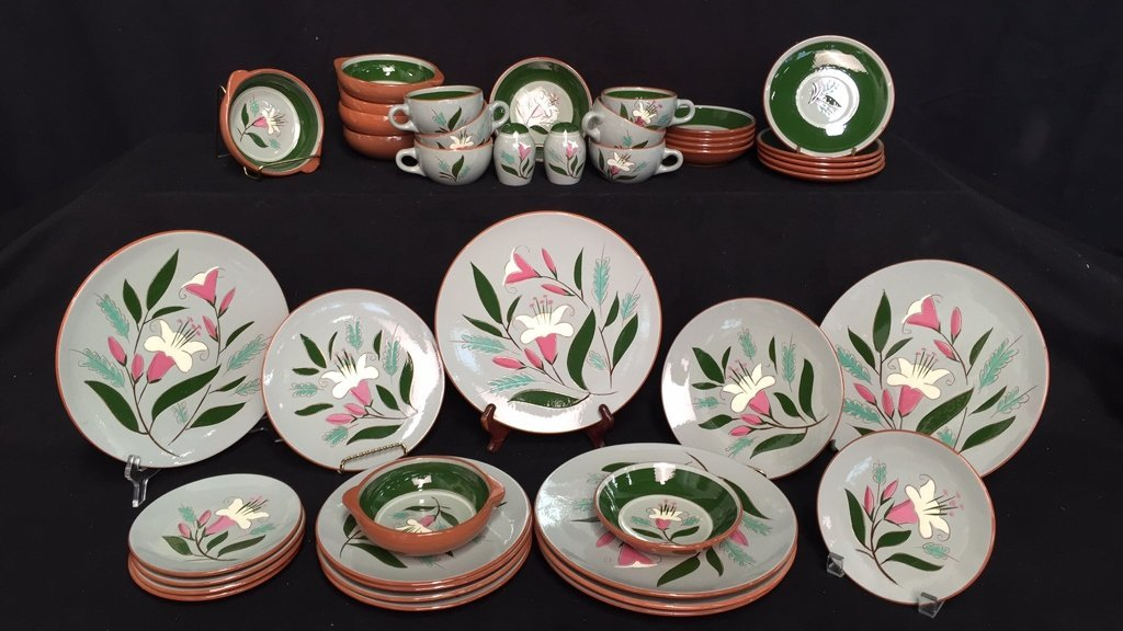 Group Lot STANGL Pottery PINK LILLY