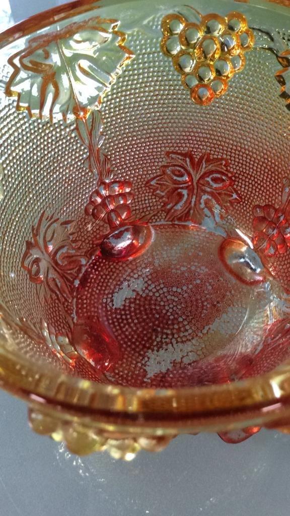 3 vintage colored glass pieces - 7