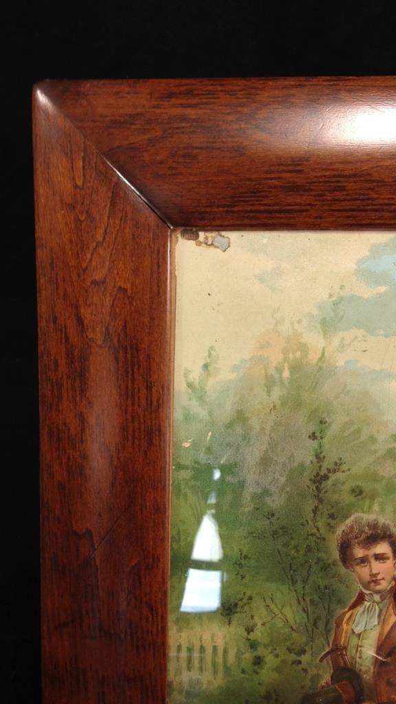 Vintage Wood Framed Poster - 6