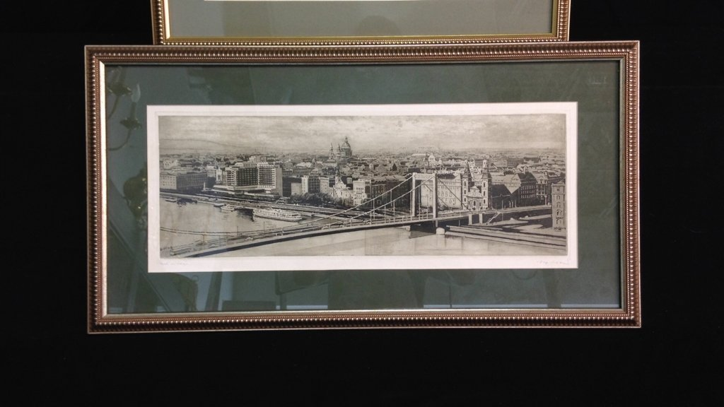 2 Professionally Framed & Matted Signed Art - 2