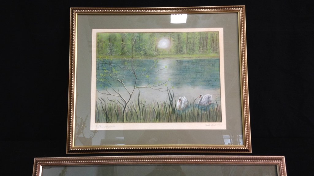 2 Professionally Framed & Matted Signed Art - 3