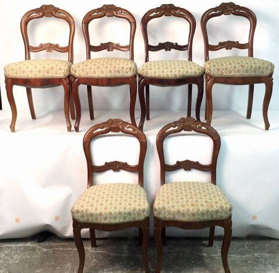 Antique Balloon-back Rococo Revival Side Chairs