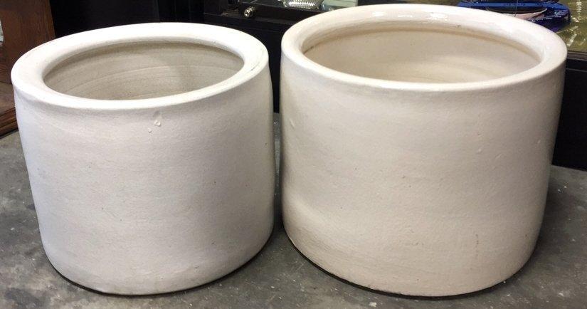 Set of Ceramic Cylinder Planters