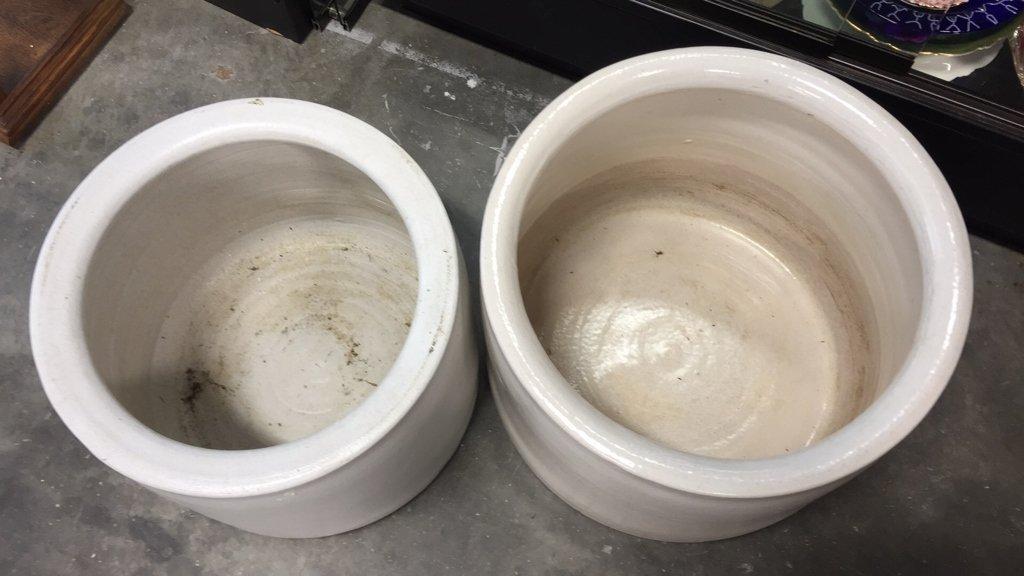 Set of Ceramic Cylinder Planters - 2