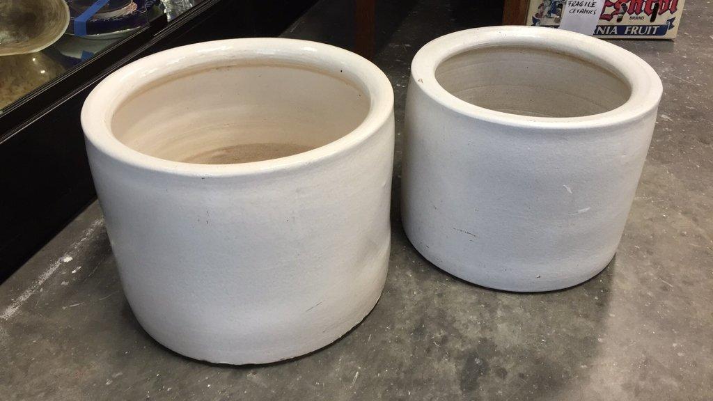Set of Ceramic Cylinder Planters - 5