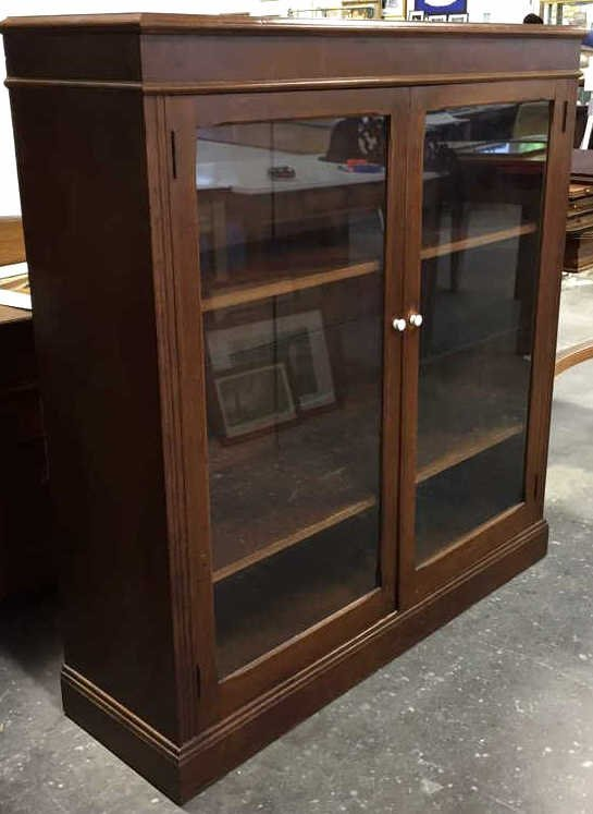 Vintage Glass & Wood Display Cabinet