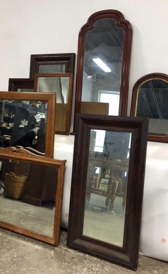 Group Lot 9 Vintage & Antique Mirrors