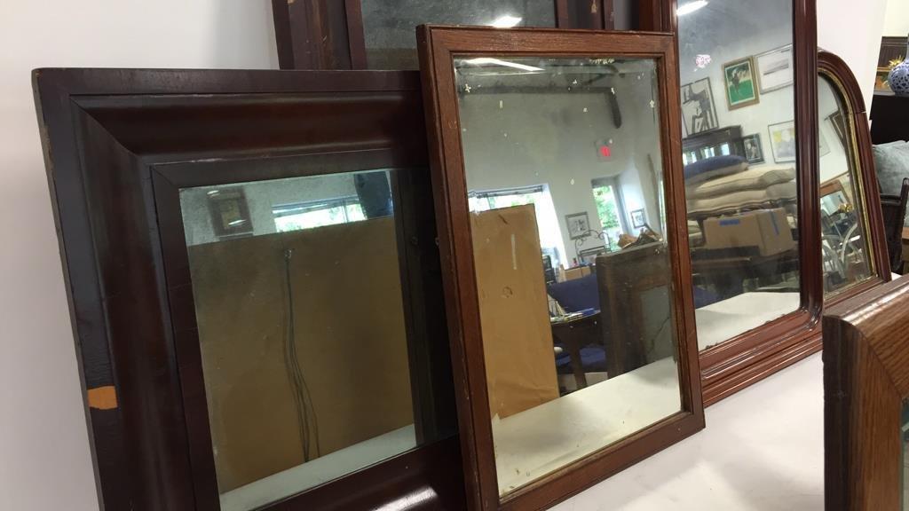 Group Lot 9 Vintage & Antique Mirrors - 3