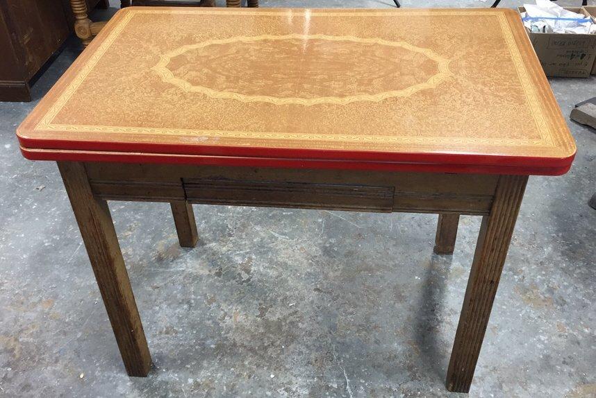 Vintage Kitchen Table Straight Legs