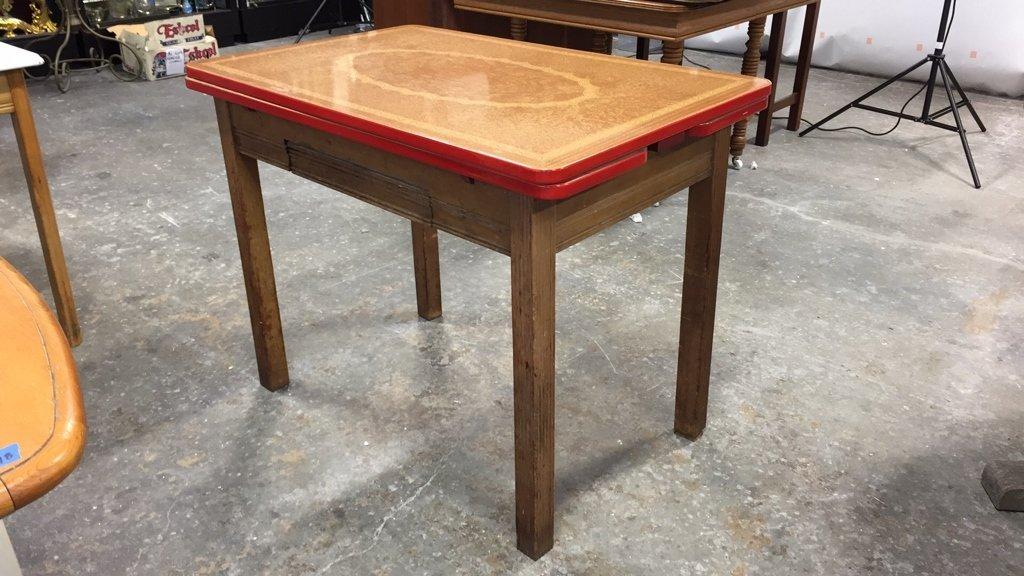 Vintage Kitchen Table Straight Legs - 2