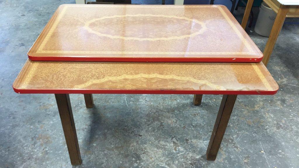 Vintage Kitchen Table Straight Legs - 3
