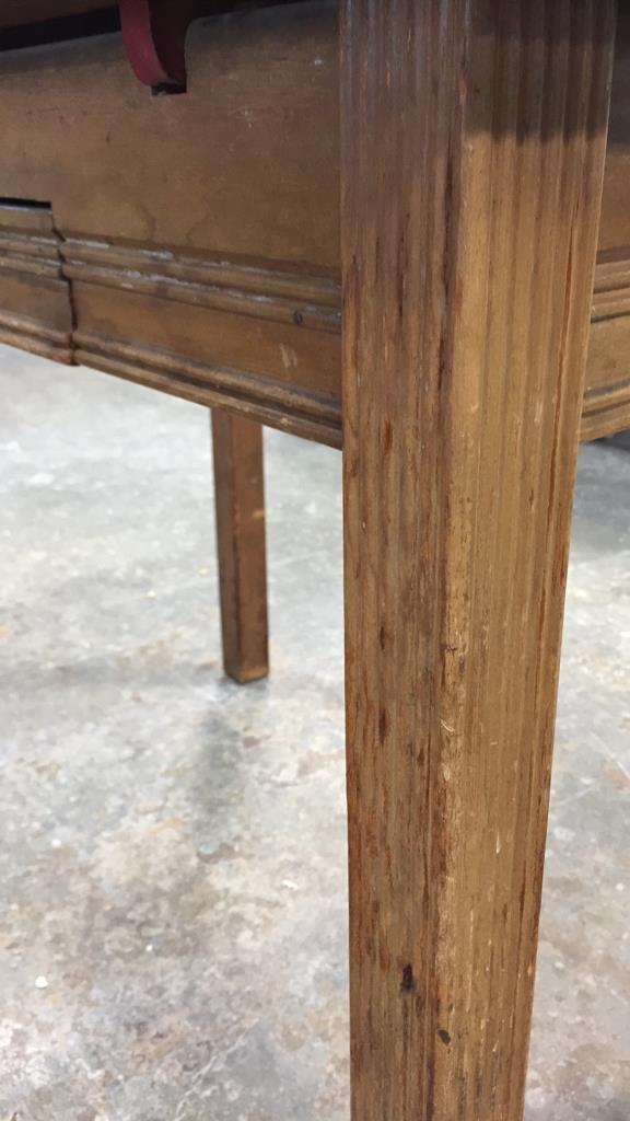 Vintage Kitchen Table Straight Legs - 5