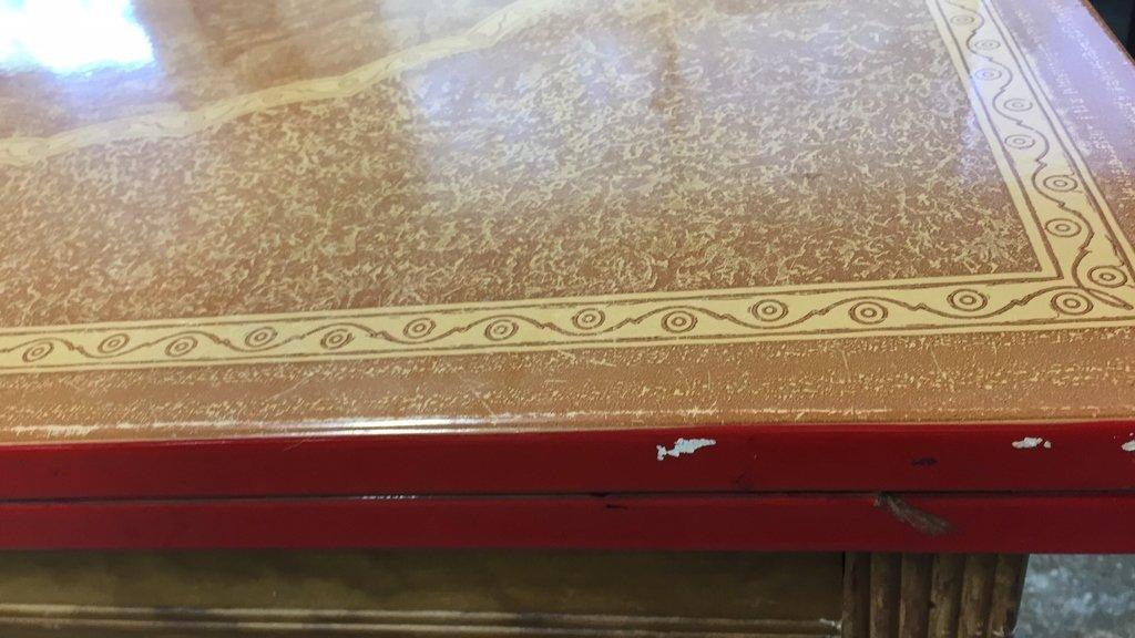 Vintage Kitchen Table Straight Legs - 7