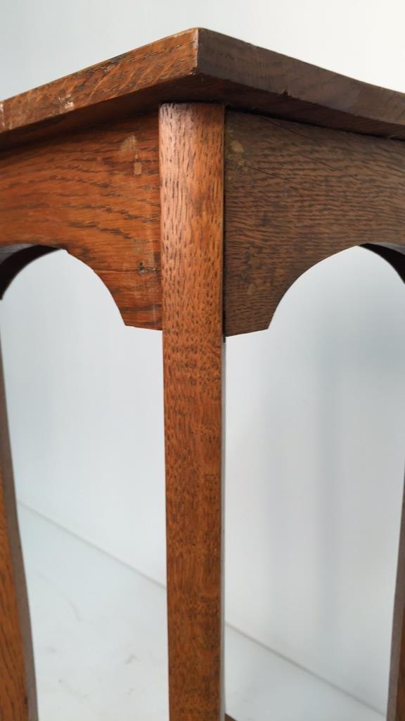 Vintage Oak Plant Stand Pedestal - 3