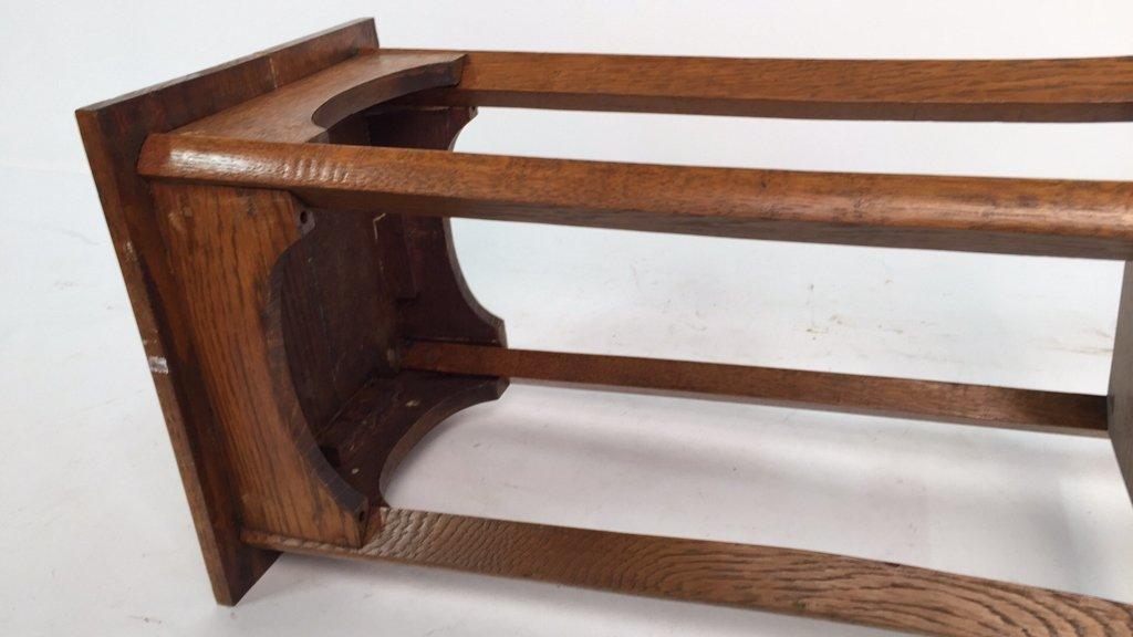 Vintage Oak Plant Stand Pedestal - 5