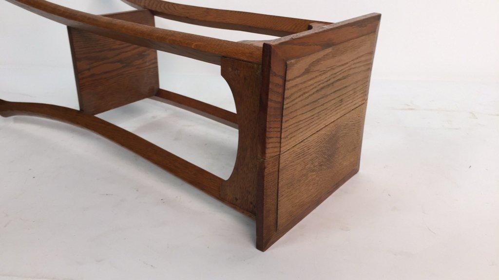 Vintage Oak Plant Stand Pedestal - 6