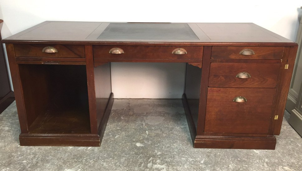 GRANGE Printer Desk Leather Inlay w Fole Dawer