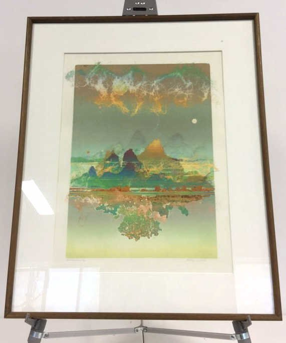 Signed Vintage Lithograph